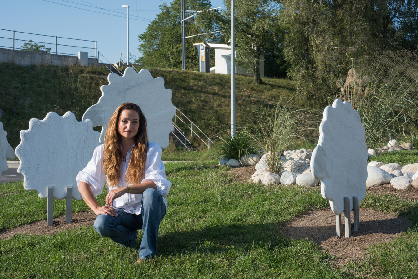 « Dessine-moi un mouton », une œuvre en marbre précieux s'est implantée à St-Légier