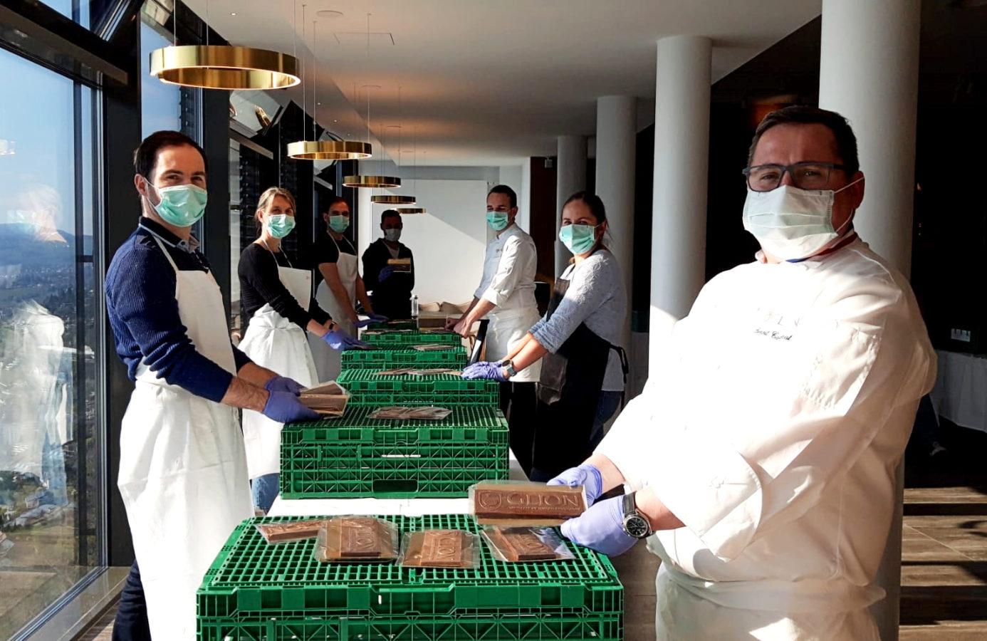 Les chefs de l'Ecole Hôtelière de Glion aux petits soins des établissements hospitaliers de la région