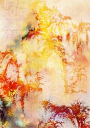 Shan Shan Sheng, Chinese Landscape, technique mixte et huile sur toile, 2013