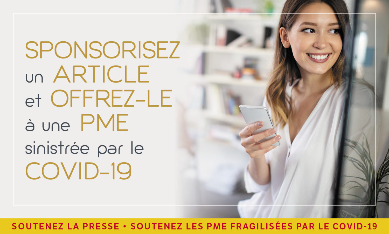 Sponsorisez un article et offrez-le à une PME sinistrée par le COVID-19