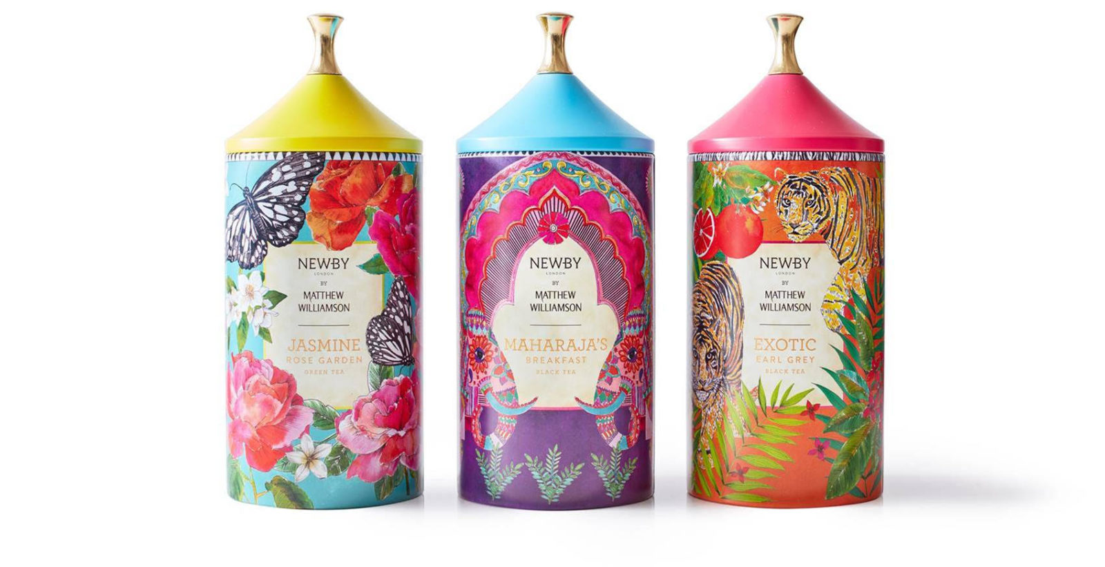 NEWBY TEAS DÉVOILE UNE COLLABORATION EXCLUSIVE AVEC MATTHEW WILLIAMSON, STYLISTE ANGLAIS ICONIQUE