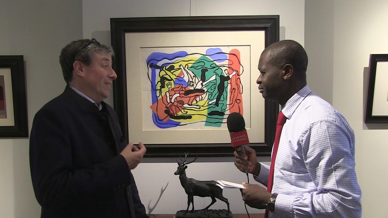 Vente aux enchères de 5 segments du mur de Berlin   Interview d'Harold t'Kint